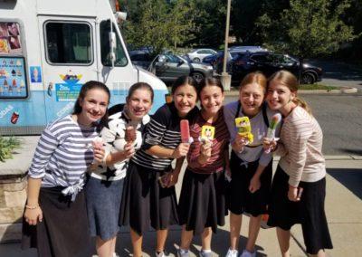 ice cream at orientation